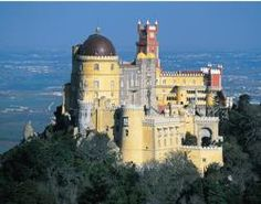 Pena Palace Sintra, Portugal (got to see! Sintra Portugal, Visit Portugal, Portugal Travel, Beautiful Castles, Beautiful World, Beautiful Places, Portugal Tourist Attractions, Palaces, Pena Palace