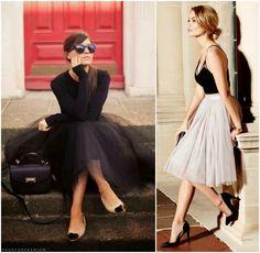 A saia de tule é um dos itens desejo do verão 2016. Dicas de looks e onde comprar a peça no Moda que Rima.