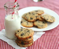Coconut Chocolate Chip Cookies – Low Carb and Gluten-Free via @dreamaboutfood