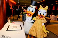 Donald + Daisy Duck. The best wedding guests!!