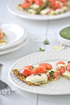 Caprese Pizza with Cauliflower Crust
