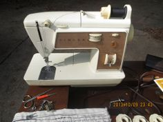 SINGER TOUCH SEW II 788 free arm sewing machine acc. cabinet L@@K +++++. Mine was a T  S 750, but this is the machine I learned to sew on. It was a real trooper!