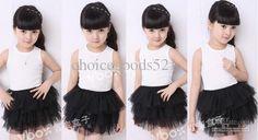 Wholesale -Girl summer tutu skirt girl fashion dress,girl skirts children 5 sizes