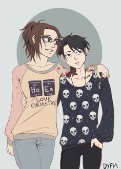 Hanji & Levi (but I don't like Levi on the picture, I mean it's well done but he looks like an ugly friend of mine)