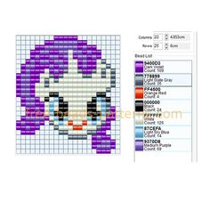 Rarity My Little Pony character free Hama Beads fuse beads pattern download