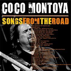 Coco Montoya Band~ Rena Beavers, drums, Nate Brown, bass, Brant Leeper, keyboard. 2016 Tour Schedule