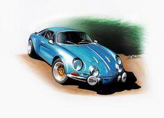 Renault Alpine illustration by Marchiori Luca