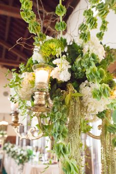 Candelabra Centerpiece | Leigh Wells Photography | TheKnot.com