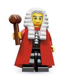 Judge (Here com' da' Judge...) | LEGO® minifigures | Series 9