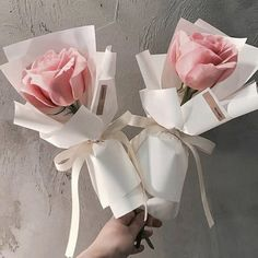 Roses for two Small Flower Bouquet, Beautiful Bouquet Of Flowers, Beautiful Flower Arrangements, Flower Pots, Beautiful Flowers, Boquette Flowers, How To Wrap Flowers, Luxury Flowers, Small Flowers