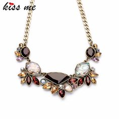 Cheap pendant manufacturer, Buy Quality jewelry fashion directly from China jewelry bin Suppliers: 	Shijie Jewelry Factory 2016 Elegant Gold Color Chain Rhinestone Necklace Women Fashion Shourouk Statement Necklace