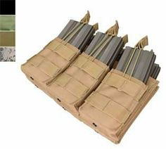 Condor Tactical MOLLE Triple Stacker Tactical M4 Mag Pouch - Tan by Perfect. $33.00. Your most essential M4 mag pouch now comes in open top and in triple stacker! Holds up to 6 M4 / M16 standard magazines.