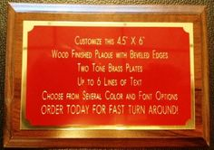 """4.5""""x6"""" Recognition Award Plaque Trophy with 2 Tone Aluminum Engraved Plates"""