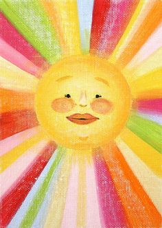You are my sunshine! I would LOVE this in a nursery/kids' room/playroom. Sun Moon Stars, Sun And Stars, Illustrations, Illustration Art, Good Day Sunshine, Hello Sunshine, Happy Sunshine, Sun Art, Mellow Yellow