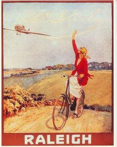 1920's Raleigh Bicycle Advertisement A3 Poster Reprint