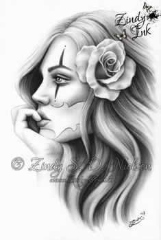 Informations About Chicano Beauty Tattoo Clown Girl Rose Art Print Glossy Emo Fantasy Girl Zindy Nie Chicano Tattoo Drawings, Art Chicano, Cholo Art, Kunst Tattoos, Body Art Tattoos, Irezumi Tattoos, Payasa Tattoo, Clown Tattoo, Girl Face Tattoo