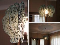 Laser Cut Vintage Light Shade Gold Dining Room, Ceiling Lights, Light Shades, Light Fixtures, Light, Vintage Lighting, Ceiling Design Living Room, Diy Lighting, Living Room Designs