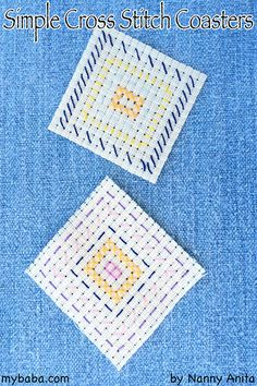Teach children how to cross stitch with this easy cross stitch coaster activity for children. Projects For Kids, Art Projects, Crafts For Kids, Arts And Crafts, Cross Stitch For Kids, Simple Cross Stitch, Easy Cross, Homemade Gifts, Cross Stitching