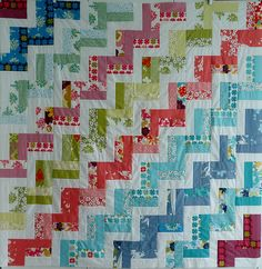Zig zag jelly roll quilt. With some different colors I would love this!