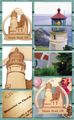 This Heceta Head Lighthouse Ornament is the perfect gift for those in love with the scenery, the history and the culture of coastal Oregon. Heceta Lighthouse - Oregon Coast