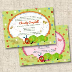 A Hungry Caterpillar Inspired Custom Baby Shower by TintsAndPrints