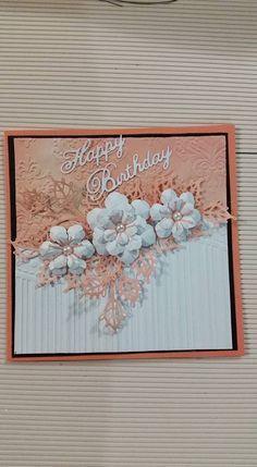 Image result for embossing folder Happy Birthday card samples