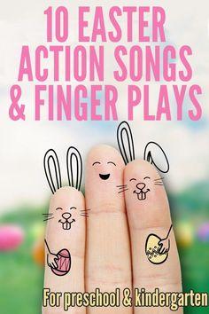 10 Easter Action Songs & Finger Plays for Preschool and Kindergarten Easter Activities, Spring Activities, Preschool Activities, Preschool Easter Crafts, Kids Crafts, Kid Activites, Music Activities, Preschool Printables, Preschool Lessons