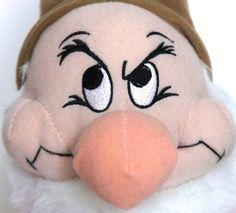 """Disney Seven Dwarfs Grumpy 12"""" Plush Large Nose White Beard Pointy Shoes Hat  #Disney"""