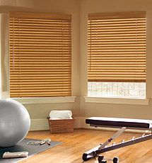 """Levolor Classic 2"""" Wood Blinds, Wooden Blinds #WoodBlinds #HomeGym"""