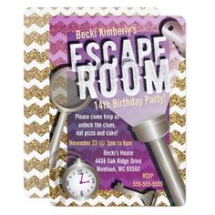 26 Escape Room Birthday Party Ideas Escape Room Mystery Party Birthday Party