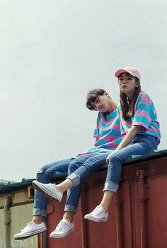 Couple outfits, couple clothes, outfits for teens, petit ami, perfect coupl Matching Couple Outfits, Matching Couples, Cute Couples Goals, Couple Goals, Asian Fashion, Look Fashion, Fashion Beauty, Couple Ulzzang, Korean Ulzzang