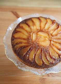 Caramel Pear (Upside Down) Cake – A Guest Post by Nisha @ Look Who's Cooking T. Caramel Pear (Upside Down) Cake – A Guest Post by Nisha @ Look Who's Cooking Too Monsoon Spice Dessert Simple, Pear Dessert, Arabic Dessert, Arabic Sweets, Arabic Food, Pear Recipes, Sweet Recipes, Indian Recipes, Plum Upside Down Cake