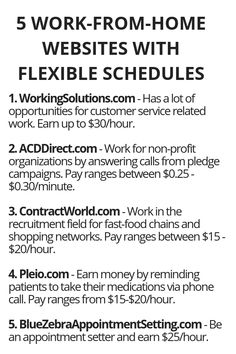 5 Work-From-Home Websites With Flexible Schedules - Wisdom Lives Here