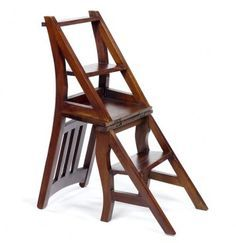 Library chair and step-stool. I need four of these...