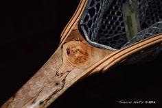 Custom Fly Fishing Net By Sierra Nets- Stabilized Spalted Maple Burl net