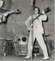 August 13th, 1955 Elvis and Scotty at The Louisiana Hayride