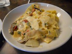 Parpardelle Pasta with Delicious Veggies. Albero Cafe, Wichita, Kansas.