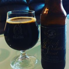 Black Chocolate Stout by Brooklyn brewery. Strong, chocolate and a little coffe. Great with dark chocolate :-)