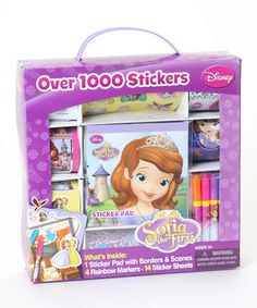 An extravaganza of stickers waits within this sensational set. Disney darlings discover over 1,000 stickers and four markers they can use on the sticker pad's play scenes to reenact favorite Sofia the First adventures or create new tales of their own imagination.