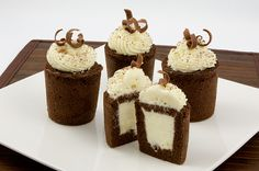 Chocolate Genoise & White Chocolate Mousse Cakes