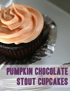 Pumpkin Chocolate Stout Cupcakes. - {So Wonderful, So Marvelous}