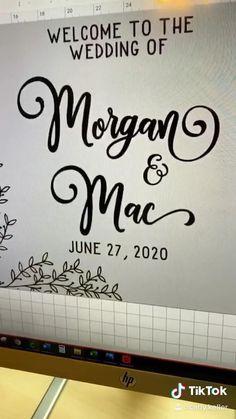 Wedding Crafts, Diy Wedding Decorations, Wedding Signs, Our Wedding, Wedding Ideas, Cricut Explore Projects, Cricut Wedding, Cricut Craft Room, Circuit Projects