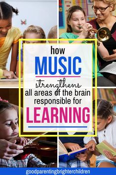 6 powerful music activities for elementary-age kids & young children that increase reading, math, memorization and concentration skills. Music makes the reading process easier for kids—learn what music neuroscience teaches. Music Activities For Kids, Music For Kids, Infant Activities, Learning Activities, Kids Learning, Science Education, Music Education, Physical Education, Writing Prompts For Kids