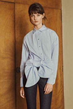 Peruse all of the looks from Victoria Beckham's merged lines, Denim and Victoria, here.