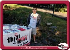 Kyle helping me out during the Dog Gone! Scavenger Hunt in New Hope, Pa. What a businessman – a true leader! 9/14/13 #AuntHeather