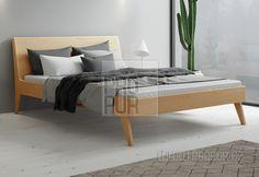 Dřevěná postel z masivu buk Lago 4cm masiv, 180x200   PROPUR.cz