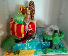40+40= 80  Gegensatz Torte zum 40. Geburtstag eines Ehepaares  Harry Potter Hulk Star Wars Winnie Puh Karibik London Hulk, Harry Potter, Star Wars, London, Desserts, Food, Caribbean, Pies, Birthday