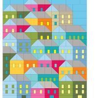 Hillside Houses Quilt Pattern