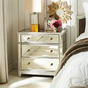Oversized Hayworth Mirrored Silver 3-Drawer Dresser