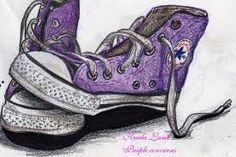 Photo of Kandy Kaela's drawings of converse shoes for fans of Ray Ray (Mindless Behavior). My drawings of converse shoes Purple Converse, Converse Style, Purple Shoes, Converse All Star, Tenis Converse, Vans, Best Sneakers, High Top Sneakers, Converse Drawing